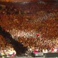 Céline Dion sur scène, aux Plaines d'Abraham au Québec, en juillet 2013 pour le concert Céline Dion... une seule fois.
