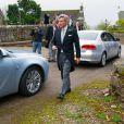 Michael Middleton au mariage de Rowena Macrae, très bonne amie de sa fille Pippa, et Julian Osborne à Pertshire, en Ecosse, le 26 avril 2014.