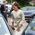 Pippa Middleton au mariage de Rowena Macrae, sa très bonne amie depuis l'école de cuisine The Grange, et Julian Osborne, qui a eu lieu à Pertshire, en Ecosse, le 26 avril 2014.
