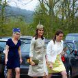 Pippa Middleton a pris part au mariage de Rowena Macrae, sa très bonne amie depuis l'école de cuisine The Grange, et Julian Osborne, qui a eu lieu à Pertshire, en Ecosse, le 26 avril 2014.