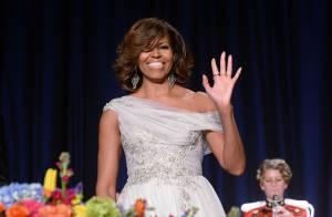 Michelle Obama : À couper le souffle devant Barack, blagueur et élégant