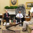 La Maison Blanche a diffusé cette photo de Barack Obama dans une mise en scène façon Game of Thrones, le 3 mai 2014.