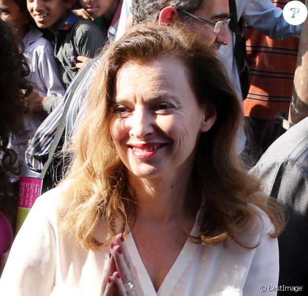 Valérie Trierweiler, l'ex-compagne de Francois Hollande, à Bombay, le 28 janvier 2014