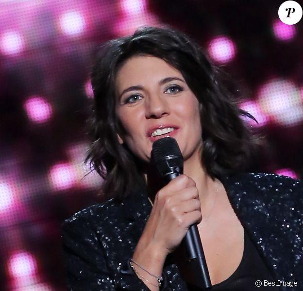 Estelle Denis, en décembre 2012 à Paris, lors de l'enregistrement de son premier prime time sur TF1.