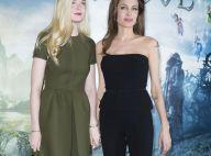 Angelina Jolie à Paris : La terrible 'Maléfique' est angélique avec Elle Fanning