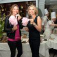 """Exclusif - Sophie Thalmann et Sylvie Tellier lors d'un goûter de Pâques """"Tout Chocolat"""" à l'Hôtel de Vendôme à Paris le 9 avril 2014."""