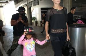 Heidi Klum : Retour à L.A avec Lou, Seal grand supporter de Leni, Henry et Johan