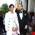 """Zoe Saldana et son mari Marco Perego - Soirée """"Global Gift Gala 2014 """" à l'hôtel Four Seasons George V à Paris le 12 mai 2014."""