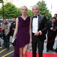"""Sarah Marshall et Jean-Claude Jitrois - Soirée """"Global Gift Gala 2014 """" à l'hôtel Four Seasons George V à Paris le 12 mai 2014."""