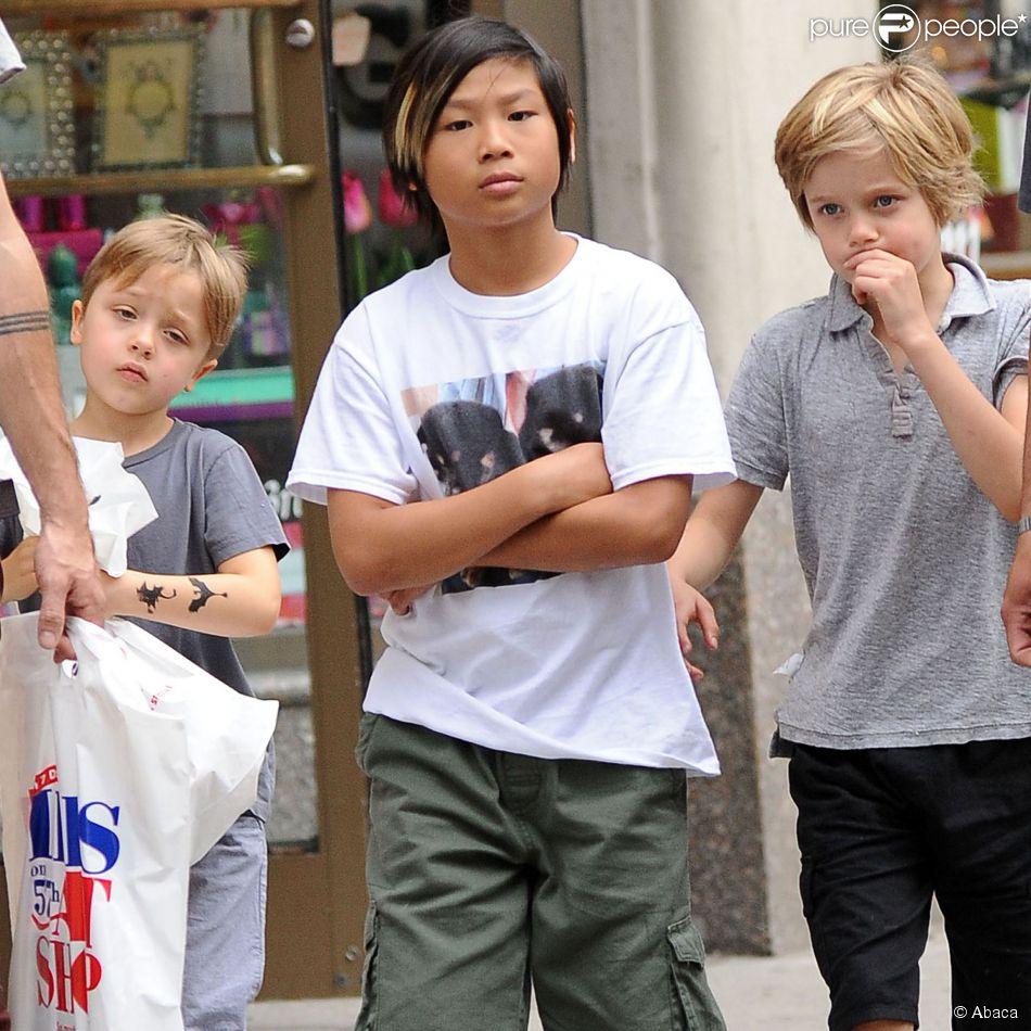 Pax, Shiloh et Knox Jolie-Pitt, les enfants des Brangelina ...