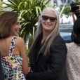 Carole Bouquet et la présidente Jane Campion lors du photocall du jury du Festival de Cannes du 14 mai 2014