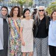 Sofia Coppola, Do-Yeon Jeon, la présidente Jane Campion, Carole Bouquet, Leila Hatami lors du photocall du jury du Festival de Cannes du 14 mai 2014