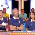 Thierry Moreau, Jean-Michel Maire et Valérie Bénaïm, dans  Touche pas à mon poste , le mercredi 14 mai 2014.