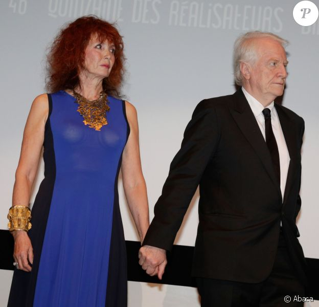 Sabine Azéma et André Dussollier for Alain Resnais is honored with the Caroussel d'Or during the 67th Cannes International Film Festival in Cannes, France on May 15, 2014. Photo by Jerome Domine/ABACAPRESS.COM15/05/2014 -