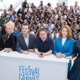"""Jérémie Renier, Aymeline Valade, Gaspard Ulliel, Bertrand Bonello, Léa Seydoux, Amira Casar -  Photocall du film """"Saint Laurent"""" lors du 67e festival international du film de Cannes, le 17 mai 2014."""