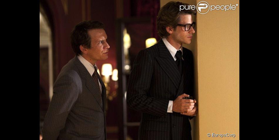 Jérémie Renier et Gaspard Ulliel dans le film Saint Laurent.
