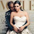Kim Kardashian et Kanye West en couverture de Vogue.