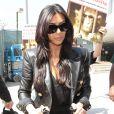 Kim Kardashian quitte l'aéroport de LAX avec sa fille North à destination de Paris, le 17 mai 2014 .