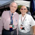 Sir Jack Brabham et Sir Stirling Moss, lors du Grand Prix de Silverstone en Angleterre, le 11 juin 2006