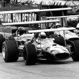 Jack Brabham au volant de sa Brabham-Ford (5) à Brands Hatch le 14 Mars 1969 à Fawkham