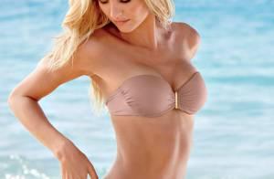 Candice Swanepoel : Bikini et ventre plat pour la bombe à la plage