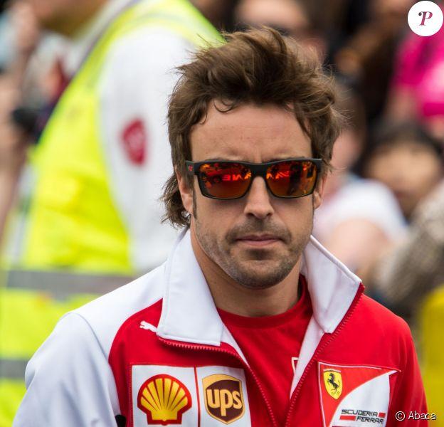 Fernando Alonso à l'Albert Park de Melbourne, le 15 mars 2014