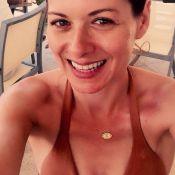 Debra Messing, amincie en bikini : La star de 40 ans fière de son nouveau corps