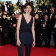 """Alice Rohrwacher - Montée des marches du film """"Pour une poignée de dollars"""" pour la cérémonie de clôture du 67e Festival du film de Cannes le 24 mai 2014"""
