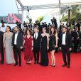 """Nuri Bilge Ceyla, Melisa Sözen, Demet Hakbag et l'équipe du film """"Winter Sleep"""" - Montée des marches du film """"Pour une poignée de dollars"""" pour la cérémonie de clôture du 67e Festival du film de Cannes le 24 mai 2014"""