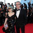 """Piers Handling - Montée des marches du film """"Pour une poignée de dollars"""" pour la cérémonie de clôture du 67e Festival du film de Cannes le 24 mai 2014"""