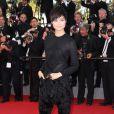 """Li Yuchun - Montée des marches du film """"Pour une poignée de dollars"""" pour la cérémonie de clôture du 67e Festival du film de Cannes le 24 mai 2014"""