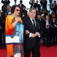 """Timothy Spall et sa femme Shane - Montée des marches du film """"Pour une poignée de dollars"""" pour la cérémonie de clôture du 67e Festival du film de Cannes le 24 mai 2014"""