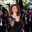 """Montée des marches du film """"Pour une poignée de dollars"""" pour la cérémonie de clôture du 67e Festival du film de Cannes le 24 mai 2014"""