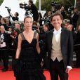 Festival de Cannes 2014 : Carole Bouquet a choisi le tapis rouge pour officialiser son couple avec Philippe Sereys de Rothschild