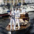"""Le prince Frederik de Danemark inaugurait le 21 mai 2014 l'exposition """"Sous un même drapeau"""" au musée d'histoire navale de Copenhague, dans le cadre des 200 ans de la Constitution norvégienne."""