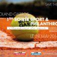 Save the date du 1er Gala Sport et Philanthropie, qui a eu lieu à Roland-Garros le 28 mai 2014.