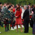 Kate Middleton et le prince William, comtesse et comte de Strathearn en Ecosse, étaient en visite à Crieff, le 29 mai 2014