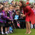 Kate Middleton et le prince William, connus comme la comtesse et le comte de Strathearn en Ecosse, ont visité le Strathearn Community Campus, à Crieff, le 29 mai 2014