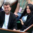 Jade Foret et Arnaud Lagardère lors des Internationaux de France à Roland-Garros à Paris, le 29 mai 2014