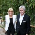 Claude Sérillon et Catherine Ceylac lors des Internationaux de France à Roland-Garros à Paris, le 29 mai 2014
