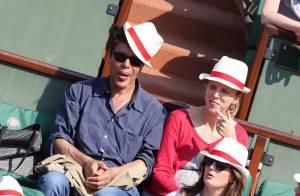 Roland-Garros - Igor Bogdanoff et Amélie, enceinte: Amoureux comblés en tribunes