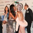 Naomi Campbell et Rihanna assistent aux CFDA Fashion Awards au Alice Tully Hall, au Lincoln Center. New York, le 2 juin 2014.