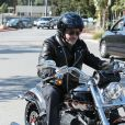 Johnny hallyday en Harley Davidson, à Los Angeles le 25 mai 2014.
