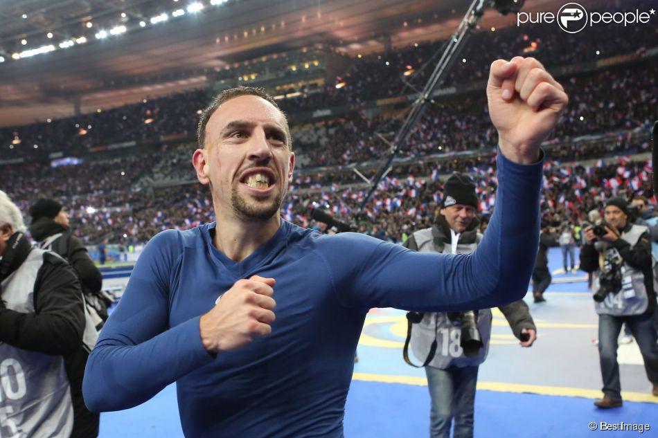 Franck Ribery au stade de France à Saint-Denis le 19 novembre 2013.