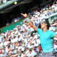 Rafael Nadal lors de la demi-finale hommes des Internationaux de France de tennis de Roland Garros à Paris le 6 juin 2014.