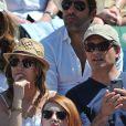 Laura Smet et son nouvel amoureux aux Internationaux de France de tennis de Roland Garros à Paris, le 6 juin 2014.