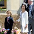 Sofia Hellqvist, petite amie du prince Carl Philip de Suède, au baptême de la princesse Leonore de Suède, fille de la princesse Madeleine et de Christopher O'Neill, le 8 juin 2014 en la chapelle du palais Drottningholm à Stockholm.