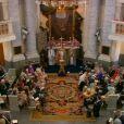 Image du baptême de la princesse Leonore de Suède, fille de la princesse Madeleine et de Christopher O'Neill, le 8 juin 2014 en la chapelle du palais Drottningholm à Stockholm. Une cérémonie retransmise en direct par la chaîne SVT1.