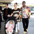 Tracy Morgan, sa fiancée et leur fille Maven à Los Angeles, le 28 mars 2014.