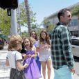 David Arquette a fêté l'anniversaire de sa fille Coco lors d'une virée shopping à Beverly Hills, le 12 juin 2014.